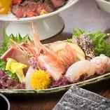 【食 材】 新鮮な新潟の海の幸を刺身でご堪能ください