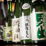 【日本酒】 飲み放題の中にも10種類の地酒が含まれています