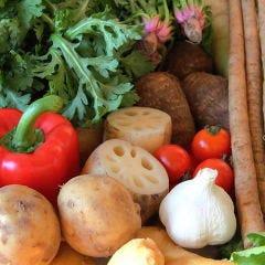 京野菜をはじめ、旬の野菜や珍しいお野菜も石焼にします!