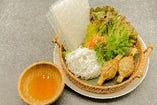 ブンティットヌーン(冷つけ麺)