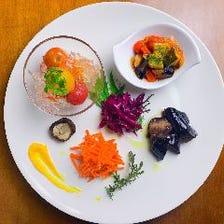 お二人の記念日に最適【本格フルコース】旬食材を使用◎肉も魚も楽む♪オーシャンズコース 6,000円