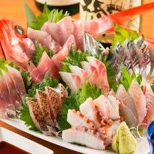 まずはこれ!その日に獲れた新鮮魚介を存分に!『海畑盛り』