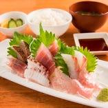 地魚刺身盛定食