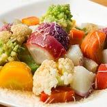 温野菜のサラダ パルミジャーノソースがけ