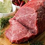 オーナーの地元から仕入れた厳選の神奈川肉を使用