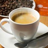 食後に、こだわりの豆で淹れたコーヒーをどうぞ♪