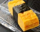 江戸銀伝統の大きな玉子の握り 実物をお試しあれ!