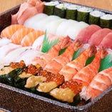寿司盛り合わせ5400円/4320円/3240円