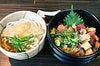 海鮮ちらし丼セット (ミニきつねうどん、香の物付き)
