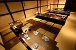 【宴会席】36名様までの堀ごたつのお座敷の宴会席。