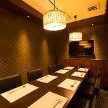 モダンな雰囲気のテーブル完全個室(8名様)