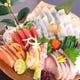 鮮魚の刺し盛りは日替わり、毎日新鮮な魚がこだわり!