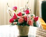 フラワーバスケット 卓上花 花束