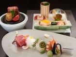 盛り付けも美しい 日本伝統の懐石料理