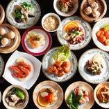 料理は70品+ドリンクは60種!! 大満足の食べ飲みプランです!