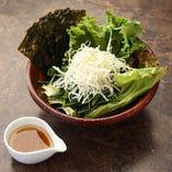 韓国のりとネギのチョレギサラダ