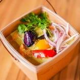 グリーンカレー(ピクルス+サラダ)