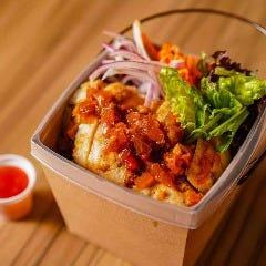 カオマンガイ(ピクルス+サラダ+スープ)