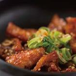 コリコリ鶏皮の甘タレ焼き
