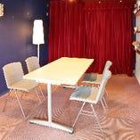 2階個室スペースは新郎新婦さまの控え室にご利用いただけます