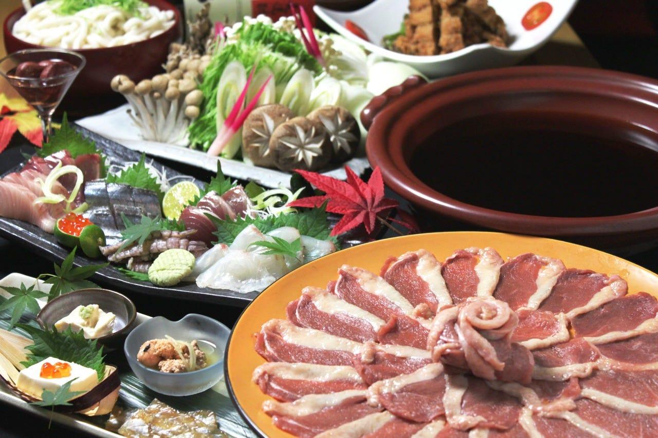 ≪冬の絶品料理を堪能!鴨鍋コース≫全6品+120分[飲放]⇒6000円