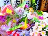 店主自ら岡山の市場まで行き、目利きをして仕入れをしています。新鮮な海鮮料理をお楽しみ下さい。