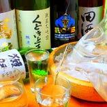 獺祭、十四代、くどき上手、寫楽、田酒など日本各地の銘酒をお楽しみいただけます。