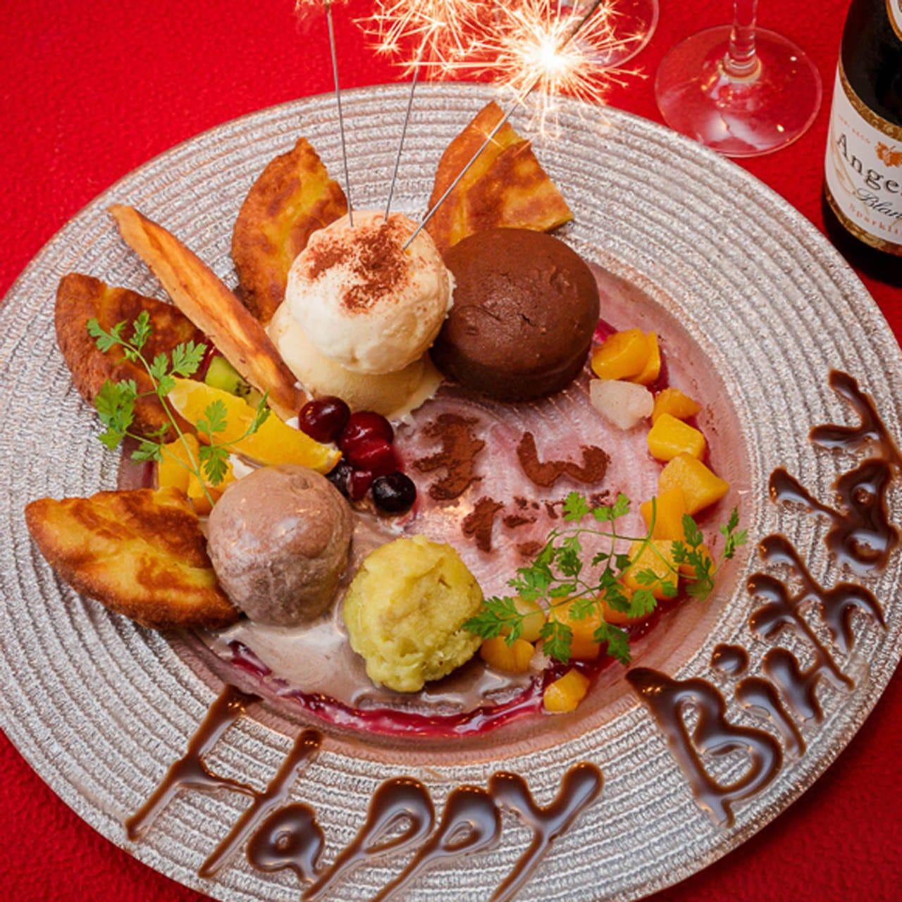 お誕生日や歓送迎会のザプライズに。