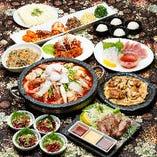 記念日にも◎厚切り牛タン・牡蠣のチヂミまで味わえる!『贅沢海鮮鍋 or 黒毛和牛肉鍋コース』