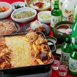 【辛旨の大旋風】韓国チーズグルメの新定番!『チーズタッカルビコース』飲み放題付