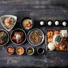サムギョプサルと韓国鍋を同時に。