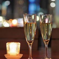 まずはシャンパンで乾杯♪