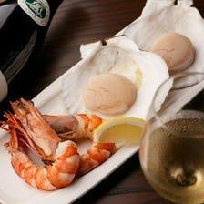 鮮度にこだわった魚介をお酒とともに味わう