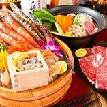 自慢の海鮮料理とこだわりお鍋のコースを多数ご用意!!
