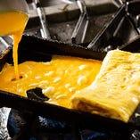 ふわふわの玉子焼きは注文率の高い人気の一皿!