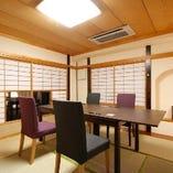 和の雰囲気溢れる和個室。