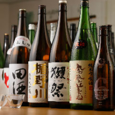 豊富な銘柄の日本酒