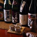 日本酒は常時10種類ご用意。プレミア銘柄・季節限定の地酒も☆