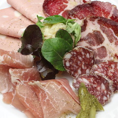 Assorted german Ham & Italian Hamドイツ・イタリア産ハムの盛合せ
