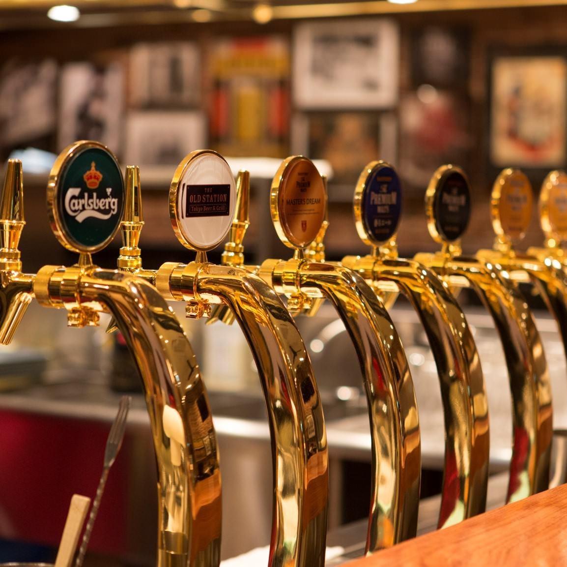 8種のドラフトビールが自慢!