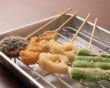 ◎三大料理:その壱◎ 看板料理!サックサクの串揚げ!