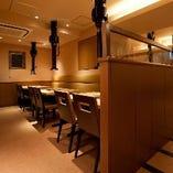 ◆宴会個室完備 少人数でも楽しめる半個室もございます。