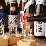 【飲み比べも◎】 焼酎は1ショット400円~、日本酒は1合550円~