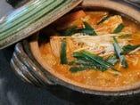 【チゲ子鍋】すこしピリ辛のあつあつ鍋です。雑炊もできます。