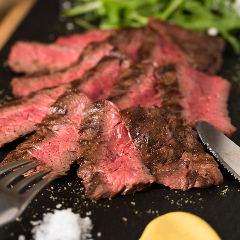 牛ハラミのグリルステーキ ~ブラックペッパーソース~