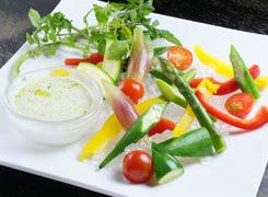 有機野菜の彩りバーニャカウダー