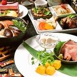 □季節の昼懐石2,500円(税抜)□デザート付8食11品~