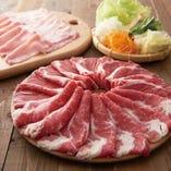 厳選牛とアンデス高原豚 肉ノ寿司食べ放題コース
