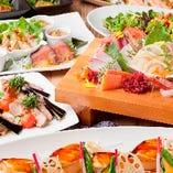 旬の海鮮づくしの飲み放題付宴会コースをお得にご提供致します!