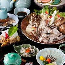 新鮮な魚介を使用した鍋料理